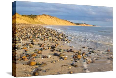 Low Tide on Duck Harbor Beach in Wellfleet, Massachusetts-Jerry and Marcy Monkman-Stretched Canvas Print