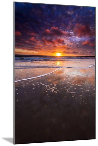 Sunset over the Channel Islands from Ventura State Beach, Ventura, California, Usa-Russ Bishop-Mounted Photographic Print