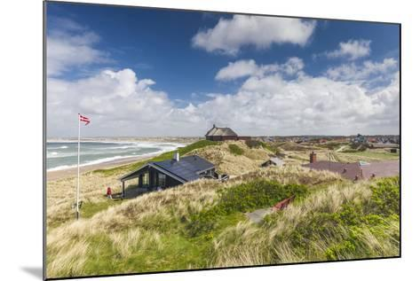 Denmark, Jutland, Klitmoller, Windsurfing Capital of Denmark, Houses in Dunes-Walter Bibikow-Mounted Photographic Print
