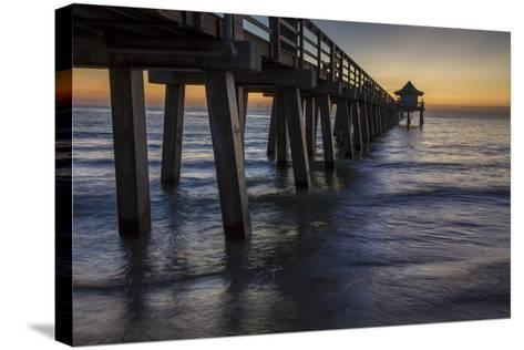 Below the Pier at Twilight, Naples, Florida, Usa-Brian Jannsen-Stretched Canvas Print