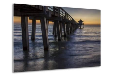 Below the Pier at Twilight, Naples, Florida, Usa-Brian Jannsen-Metal Print