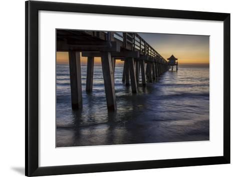 Below the Pier at Twilight, Naples, Florida, Usa-Brian Jannsen-Framed Art Print