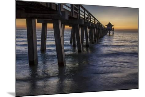 Below the Pier at Twilight, Naples, Florida, Usa-Brian Jannsen-Mounted Photographic Print