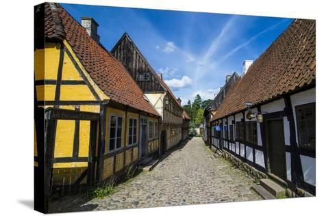 Buildings in the Old Town, Aarhus, Denmark-Michael Runkel-Stretched Canvas Print