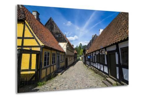 Buildings in the Old Town, Aarhus, Denmark-Michael Runkel-Metal Print
