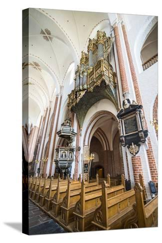 Historic Pipe Organ in UNESCO World Heritage Site, the Cathedral of Roskilde, Denmark-Michael Runkel-Stretched Canvas Print