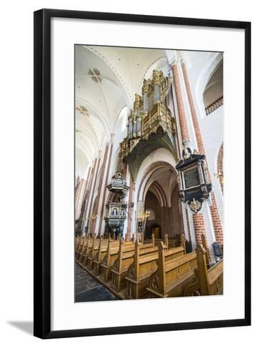 Historic Pipe Organ in UNESCO World Heritage Site, the Cathedral of Roskilde, Denmark-Michael Runkel-Framed Art Print