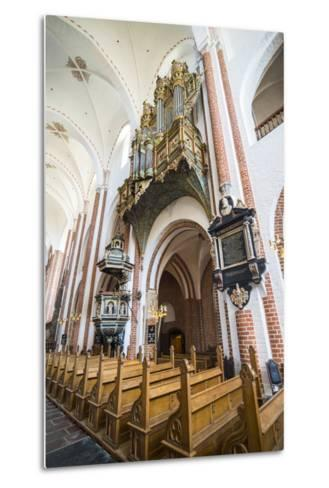 Historic Pipe Organ in UNESCO World Heritage Site, the Cathedral of Roskilde, Denmark-Michael Runkel-Metal Print