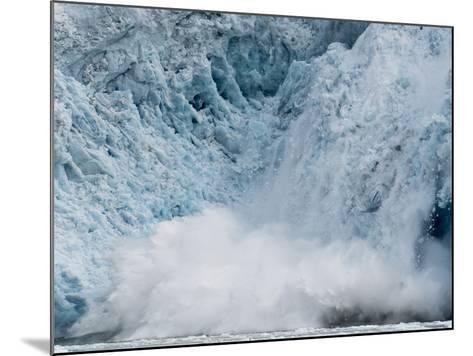 Arctic Ocean, Norway, Svalbard. Calving Glacier-Jaynes Gallery-Mounted Photographic Print
