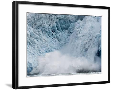 Arctic Ocean, Norway, Svalbard. Calving Glacier-Jaynes Gallery-Framed Art Print