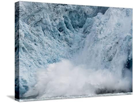 Arctic Ocean, Norway, Svalbard. Calving Glacier-Jaynes Gallery-Stretched Canvas Print