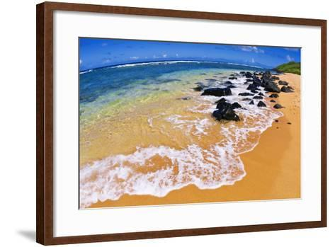 Larsen's Beach, North Shore, Island of Kauai, Hawaii-Russ Bishop-Framed Art Print