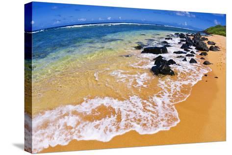 Larsen's Beach, North Shore, Island of Kauai, Hawaii-Russ Bishop-Stretched Canvas Print