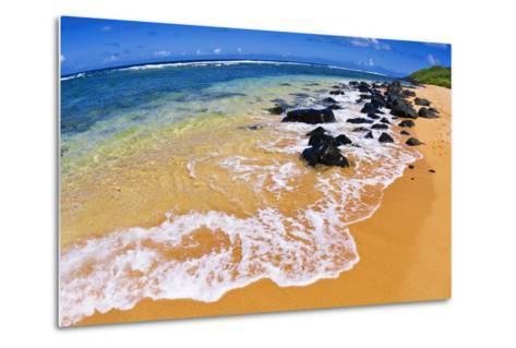 Larsen's Beach, North Shore, Island of Kauai, Hawaii-Russ Bishop-Metal Print