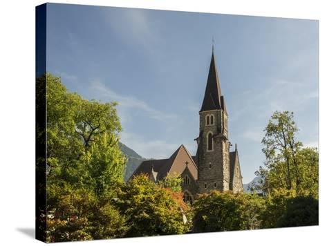 Switzerland, Bern Canton, Interlaken, Catholic Church-Jamie And Judy Wild-Stretched Canvas Print
