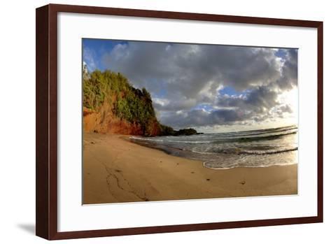 Hawaii, Maui, Sunrise Near Hana on the North Coast of Maui-Terry Eggers-Framed Art Print