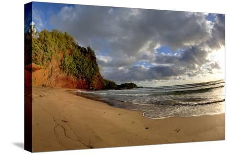 Hawaii, Maui, Sunrise Near Hana on the North Coast of Maui-Terry Eggers-Stretched Canvas Print