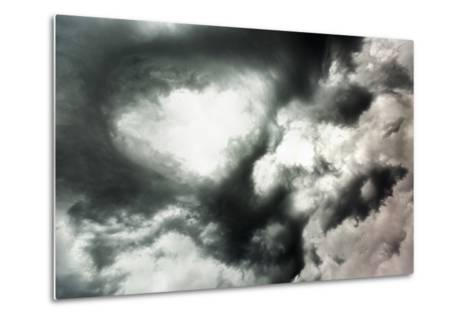 Canada, Summer Storm Clouds Swirling Above Boreal Forest in North-Central Prairie at Dusk-Paul Souders-Metal Print