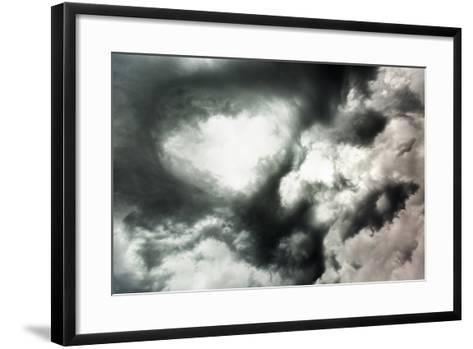 Canada, Summer Storm Clouds Swirling Above Boreal Forest in North-Central Prairie at Dusk-Paul Souders-Framed Art Print
