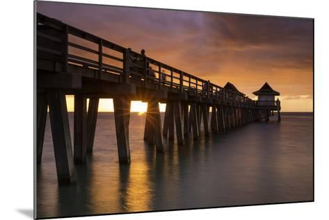 Sunset over the Pier and Gulf of Mexico, Naples, Florida, Usa-Brian Jannsen-Mounted Photographic Print