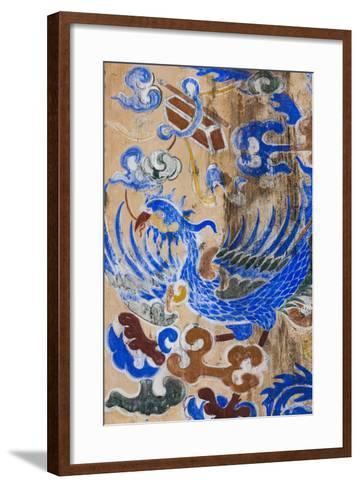 Vietnam, Hue Imperial City. Dien Tho Residence, Building Detail-Walter Bibikow-Framed Art Print