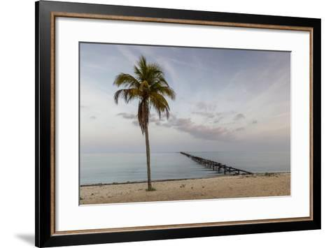 Soft Light Illuminates an Old Pier, Cuba-James White-Framed Art Print