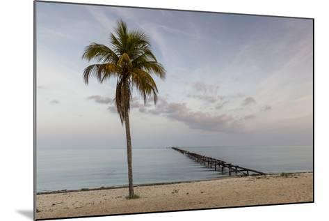 Soft Light Illuminates an Old Pier, Cuba-James White-Mounted Photographic Print