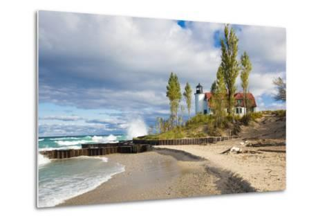 Point Betsie Lighthouse on Lake Michigan, Benzie County, Frankfort, Michigan-Richard and Susan Day-Metal Print