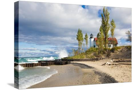 Point Betsie Lighthouse on Lake Michigan, Benzie County, Frankfort, Michigan-Richard and Susan Day-Stretched Canvas Print