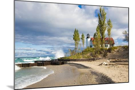 Point Betsie Lighthouse on Lake Michigan, Benzie County, Frankfort, Michigan-Richard and Susan Day-Mounted Photographic Print