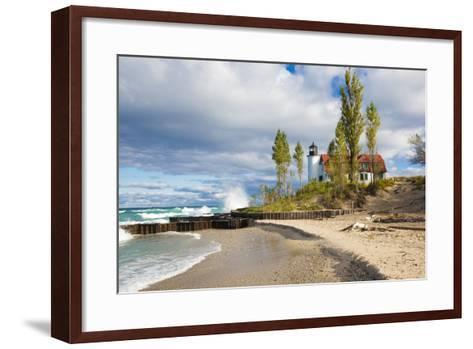 Point Betsie Lighthouse on Lake Michigan, Benzie County, Frankfort, Michigan-Richard and Susan Day-Framed Art Print