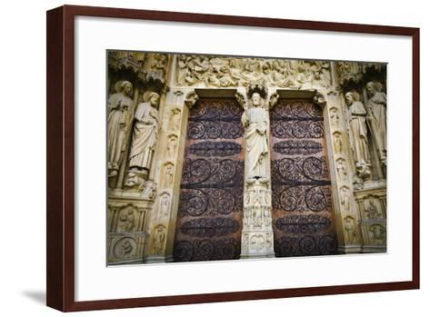 The Main Entrance to Notre Dame Cathedral, Paris, France-Russ Bishop-Framed Art Print
