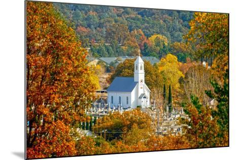 St. Sava Serbian Church and Cemetery in Jackson, California Surrounded by Fall Colors-John Alves-Mounted Photographic Print