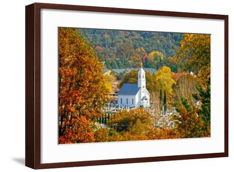 St. Sava Serbian Church and Cemetery in Jackson, California Surrounded by Fall Colors-John Alves-Framed Art Print