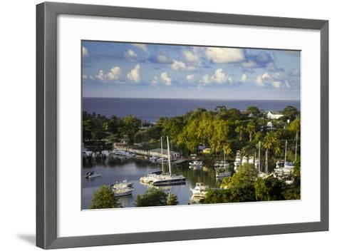 Setting Sun over the Tiny Harbor in Castries, St. Lucia, West Indies-Brian Jannsen-Framed Art Print