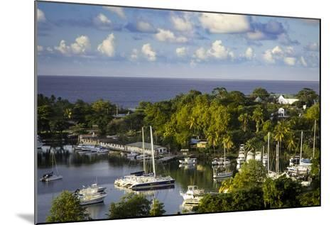 Setting Sun over the Tiny Harbor in Castries, St. Lucia, West Indies-Brian Jannsen-Mounted Photographic Print