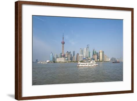Pudong District Skyline and Huangpu River-Michael DeFreitas-Framed Art Print