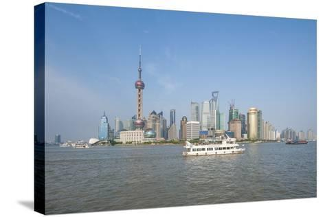 Pudong District Skyline and Huangpu River-Michael DeFreitas-Stretched Canvas Print