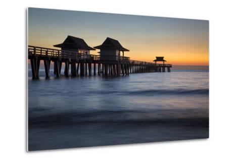 Twilight at the Naples Pier, Naples, Florida, Usa-Brian Jannsen-Metal Print