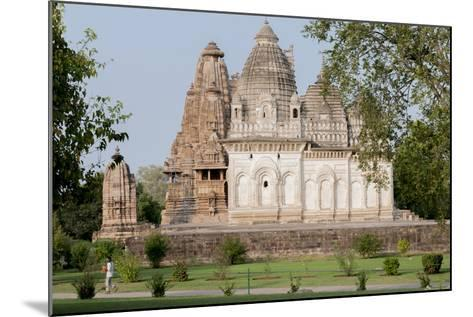 India, Khajuraho, Madhya Pradesh State Temple from the Chandella Dynasty and Grounds-Ellen Clark-Mounted Photographic Print