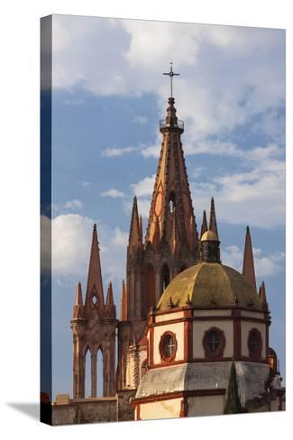 Mexico, San Miguel De Allende. Cathedral of San Miguel Archangel-Brenda Tharp-Stretched Canvas Print