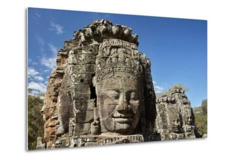 Faces Thought to Depict Bodhisattva Avalokiteshvara, Angkor World Heritage Site-David Wall-Metal Print