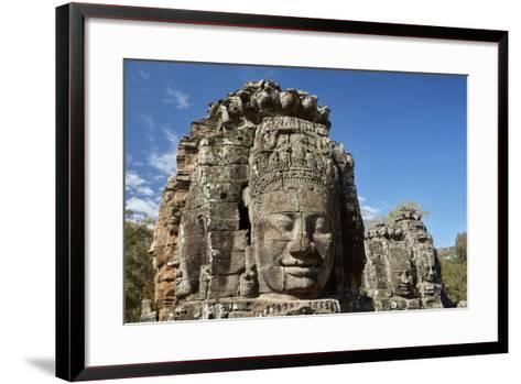 Faces Thought to Depict Bodhisattva Avalokiteshvara, Angkor World Heritage Site-David Wall-Framed Art Print