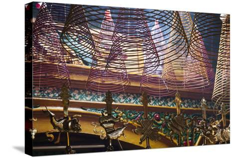 Vietnam, Ho Chi Minh City. Cholon, Chinatown Area, Phuoc an Hoi Quan Pagoda, Interior-Walter Bibikow-Stretched Canvas Print