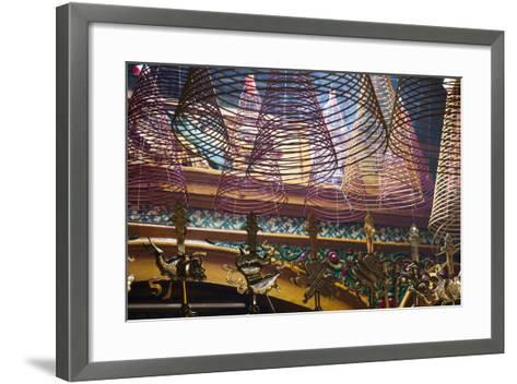 Vietnam, Ho Chi Minh City. Cholon, Chinatown Area, Phuoc an Hoi Quan Pagoda, Interior-Walter Bibikow-Framed Art Print