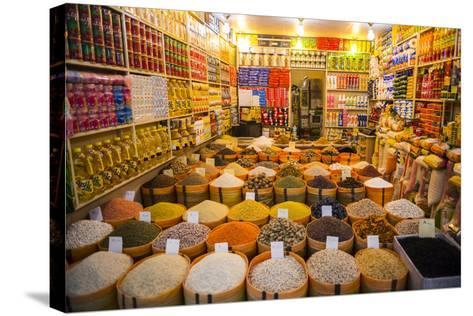 Spices in the Bazaar of Sulaymaniyah, Iraq, Kurdistan-Michael Runkel-Stretched Canvas Print