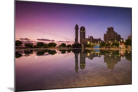 Spain, Canary Islands, Tenerife, Santa Cruz De Tenerife, Plaza De Espana, City Reflection, Dawn-Walter Bibikow-Mounted Photographic Print