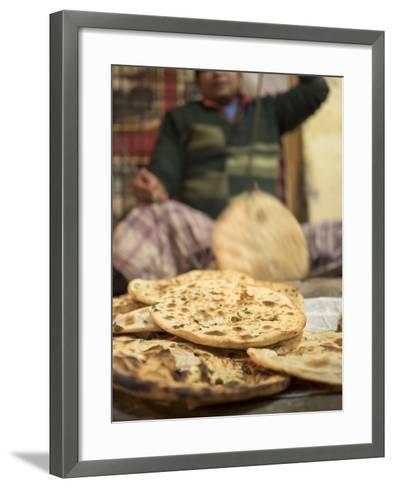 Freshly Baked Tandoori Roti in Amritsar, Punjab, India-David H^ Wells-Framed Art Print