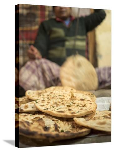 Freshly Baked Tandoori Roti in Amritsar, Punjab, India-David H^ Wells-Stretched Canvas Print