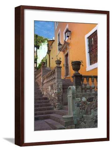 Mexico, the Colorful Homes and Buildings of Guanajuato-Judith Zimmerman-Framed Art Print